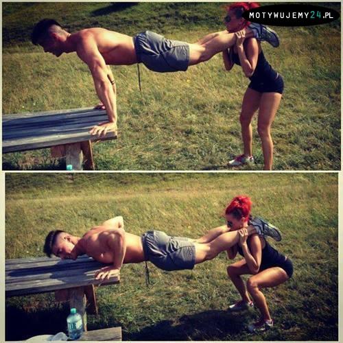 Zobacz jak możesz trenować z dziewczyną!