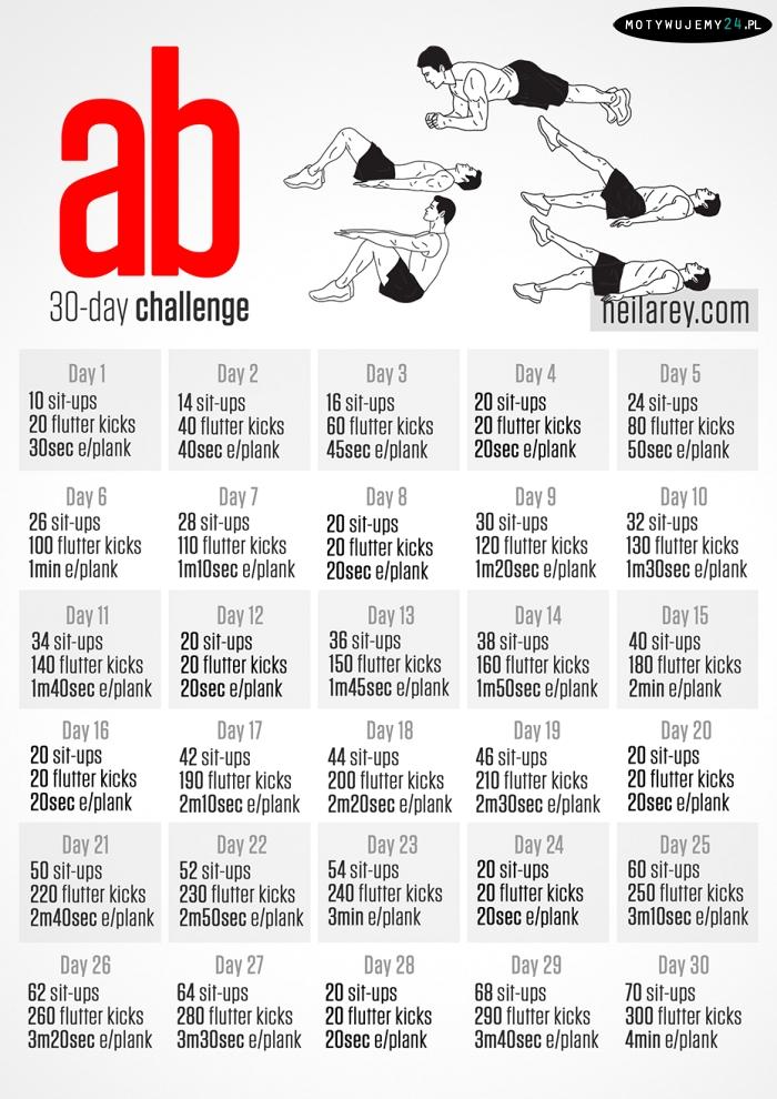 Wyzwanie FIT W MIESIĄC - plan treningowy na 30 dni | Codziennie Fit