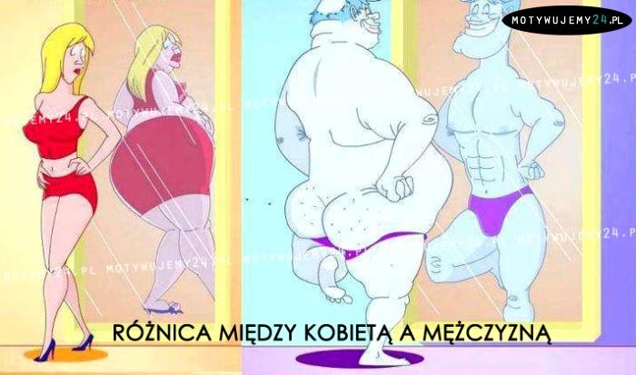 Różnica między kobietą, a mężczyzną