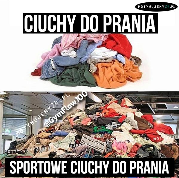 sportowe ciuchy do prania