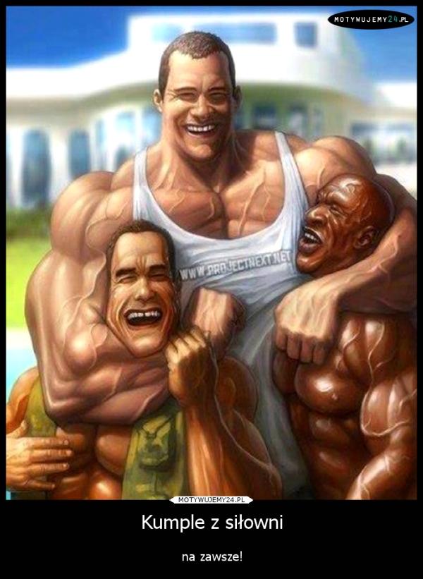 Kumple z siłowni
