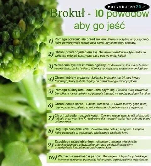 Brokuł, 10 powodów, aby go jeść