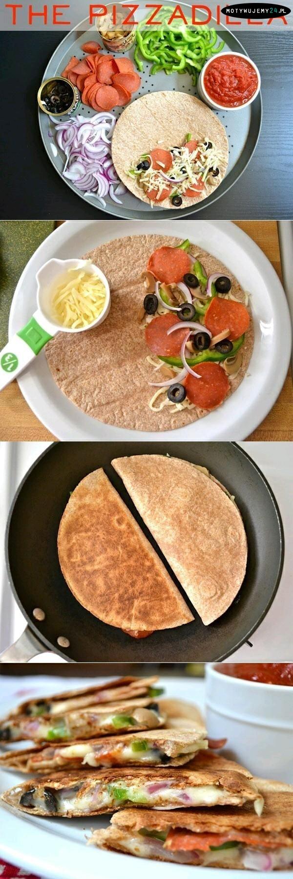 Pełnoziarnista tortilla z dodatkami