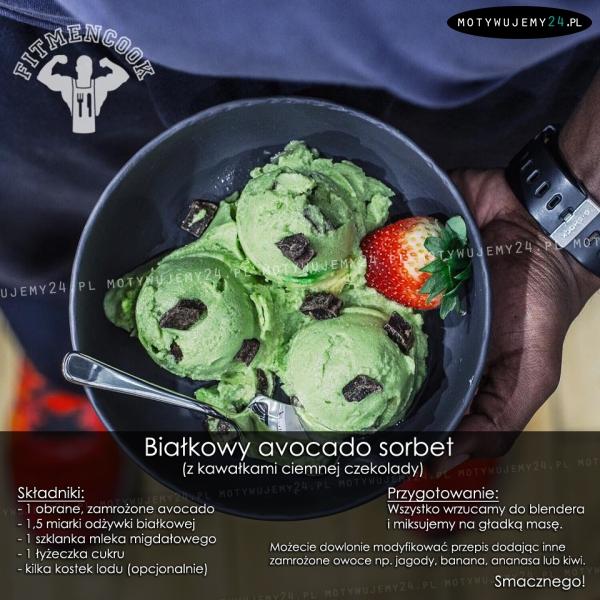 Białkowy avocado sorbet
