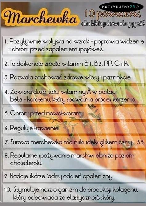 10 powodów aby jeść marchew