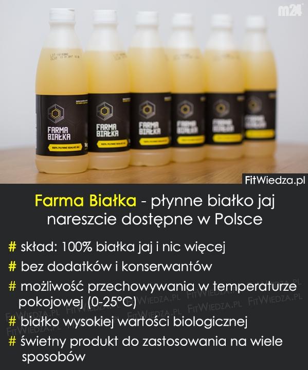 Farma Białka - płynne białko jaj nareszcie dostępne w Polsce