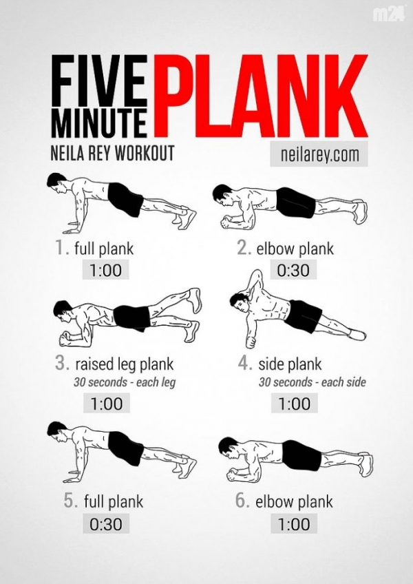 5-minutowy trening PLANK na silny brzuch