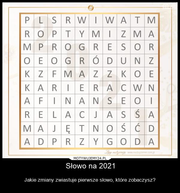 Słowo na 2021