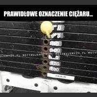 Prawidłowe oznaczenie ciężaru...